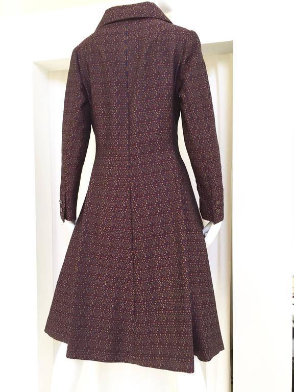 Black 1960s GEOFFREY BEENE Purple and Blue Silk Woven Dress   For Sale