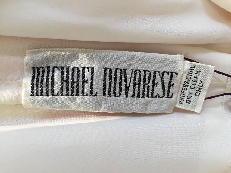 Vintage Michael Novarese pink sik chiffon handkerchief hem dress 5