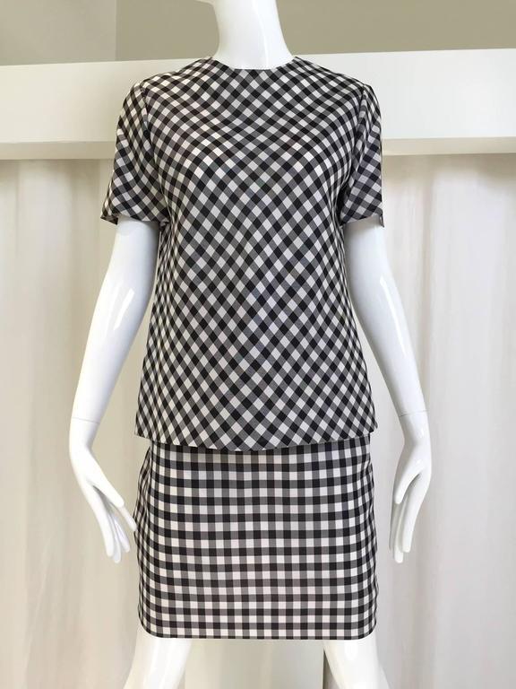 Vintage Bill Blass Black and White Checkered Print 3 pcs ensemble 2