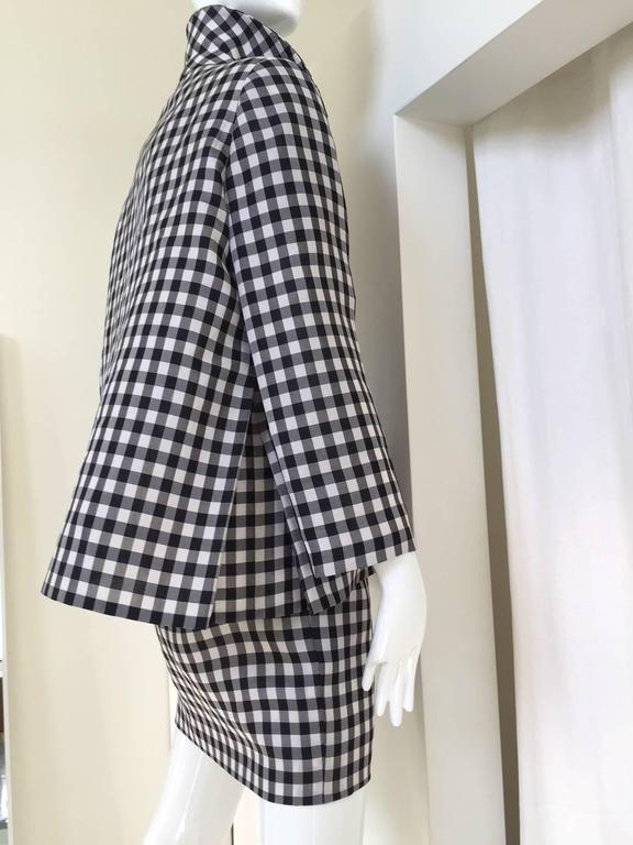 Vintage Bill Blass Black and White Checkered Print 3 pcs ensemble 3