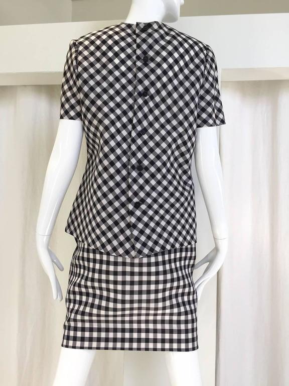 Vintage Bill Blass Black and White Checkered Print 3 pcs ensemble 4