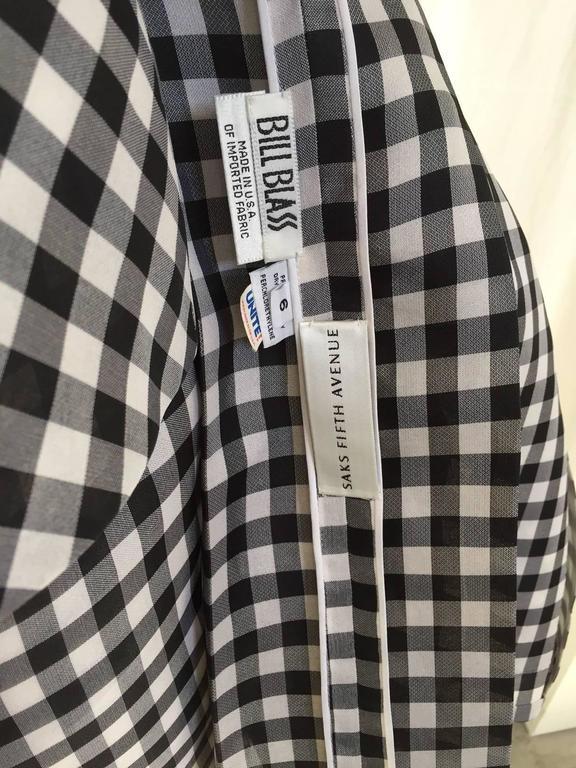 Vintage Bill Blass Black and White Checkered Print 3 pcs ensemble 5