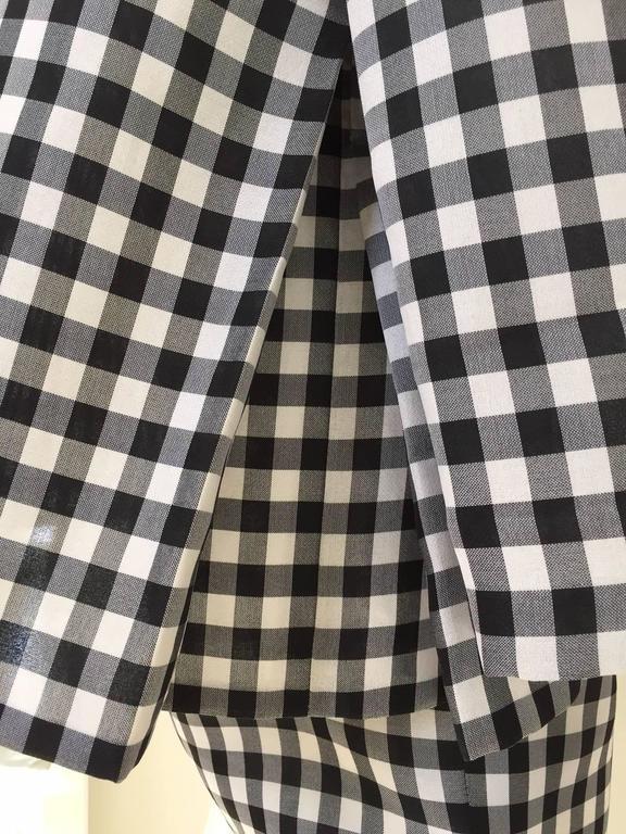 Vintage Bill Blass Black and White Checkered Print 3 pcs ensemble 6