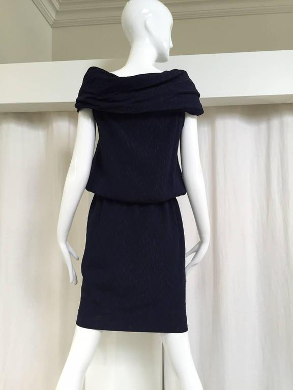Vintage Christian Lacroix  silk matelasse off shoulder dress with rhinestones 3