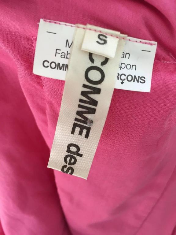 Women's 2007 Comme Des Garcons buble gum pink cotton double layer shirt dress For Sale