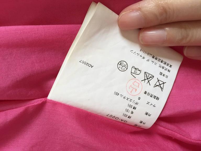 2007 Comme Des Garcons buble gum pink cotton double layer shirt dress For Sale 1