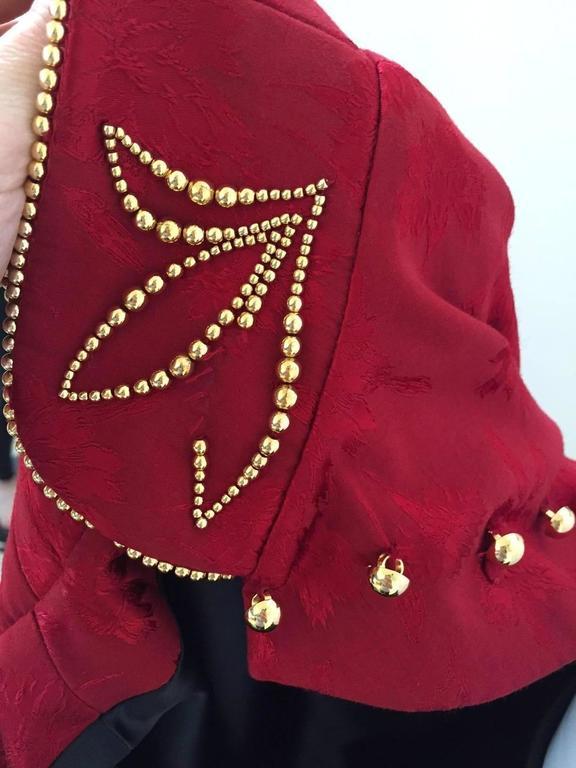 Women's RARE Fall 1997 Christian Dior by John Galliano silk jacquard cheongsam gown For Sale