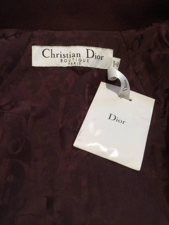 Women's Christian Dior by John Galliano ox blood wool crop jacket For Sale