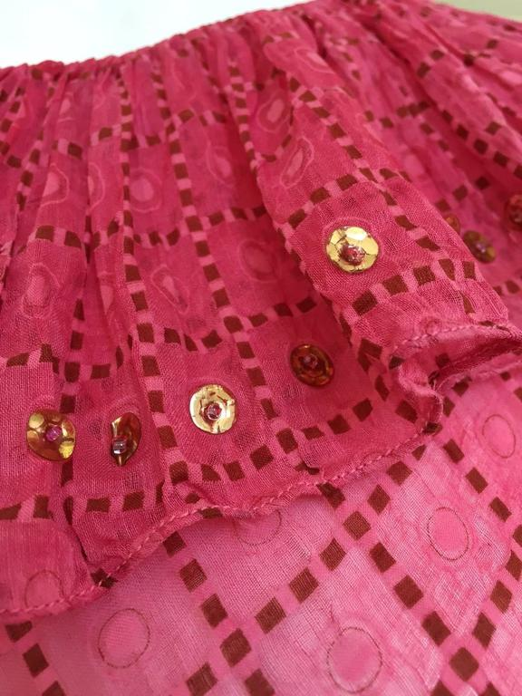 1930s Pink silk dress For Sale 1