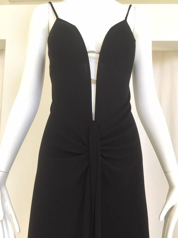 Black 90S La Perla knit jersey dress  For Sale