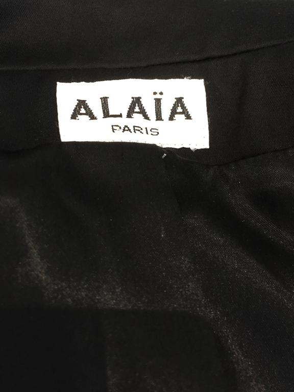 80S ALAIA black cotton fitted blazer 2