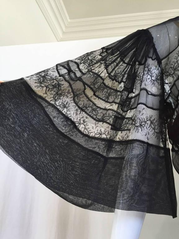 Women's 1930s Black crepe dress  For Sale
