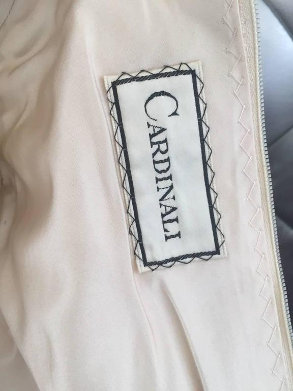Beige 1960s CARDINALI silk brocade jacquard dress For Sale