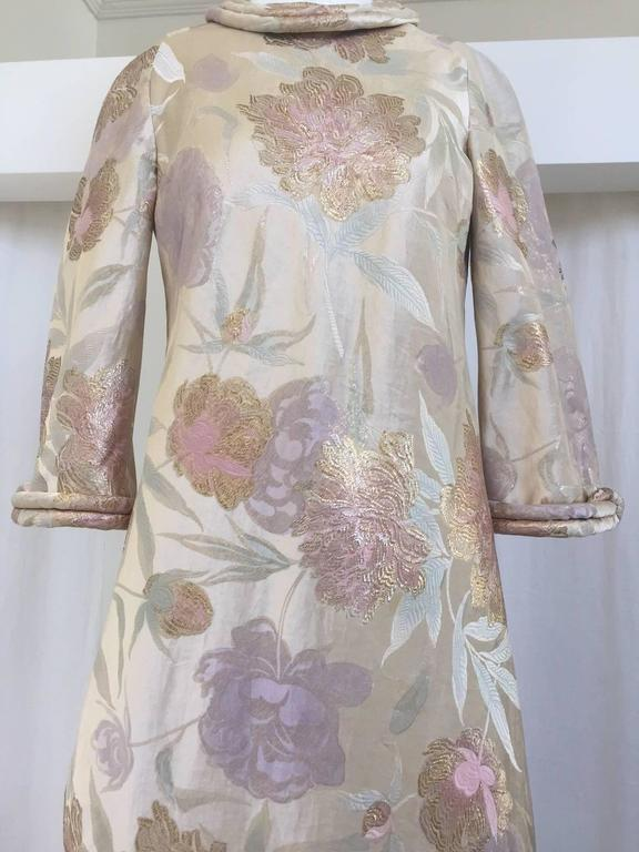 1960s CARDINALI silk brocade jacquard dress For Sale 2
