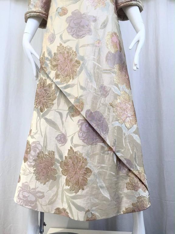 1960s CARDINALI silk brocade jacquard dress For Sale 3