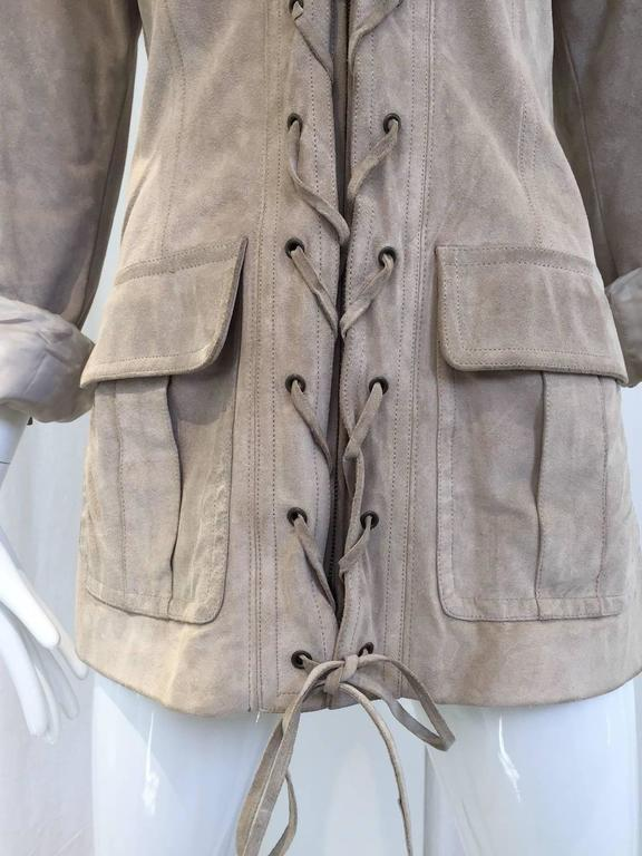 Women's Yves Saint Laurent by Tom Ford suede safari jacket For Sale
