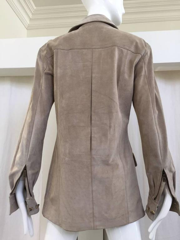 Yves Saint Laurent by Tom Ford suede safari jacket For Sale 1