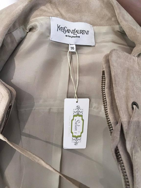 Yves Saint Laurent by Tom Ford suede safari jacket In Good Condition For Sale In Beverly Hills, CA