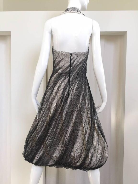 Gray Alexander McQueen Tulle Overlay Runway Dress, 2007  For Sale