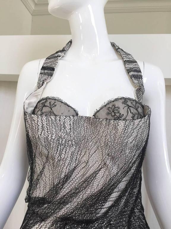 Alexander McQueen Tulle Overlay Runway Dress, 2007  For Sale 1