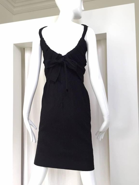 Givenchy Haute Couture Vintage Black Silk Cocktail Dress 1960s For