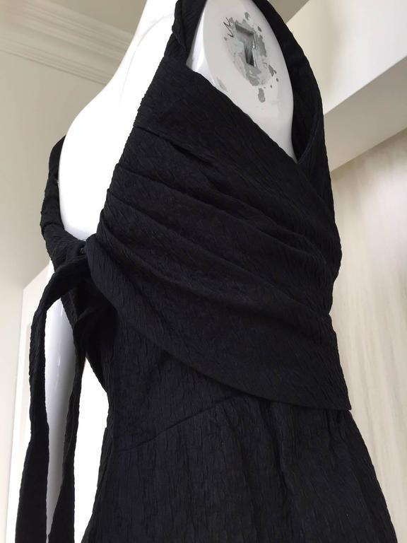 Givenchy Haute Couture Vintage Black Silk Cocktail Dress, 1960s  For Sale 1