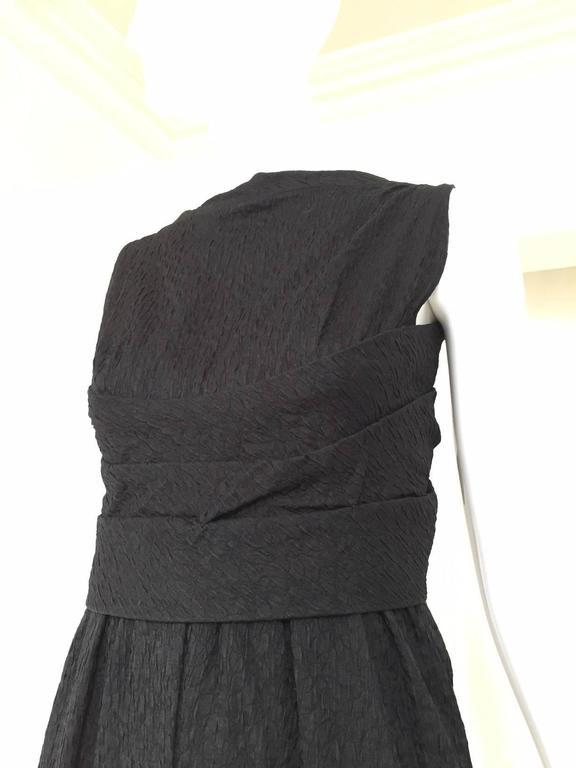 Givenchy Haute Couture Vintage Black Silk Cocktail Dress, 1960s  For Sale 2