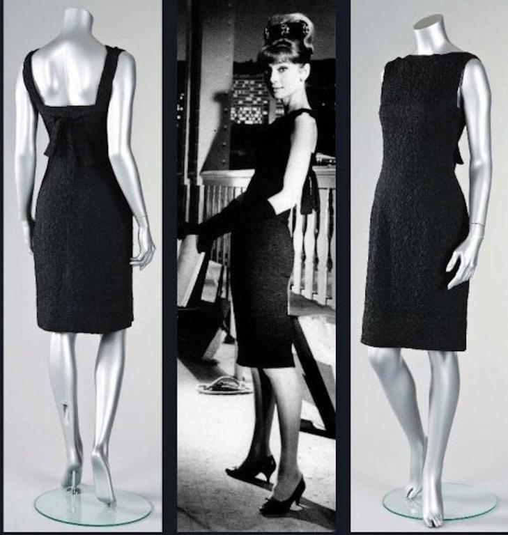 Givenchy Haute Couture Vintage Black Silk Cocktail Dress, 1960s  For Sale 6