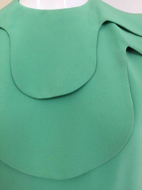 1960s DONALD BROOKS Seafoam Green Silk Dress 4