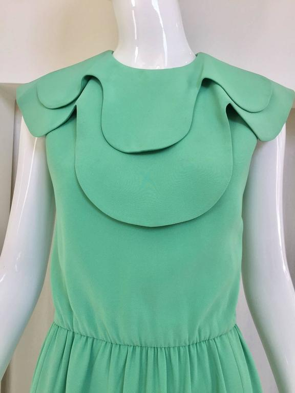 1960s DONALD BROOKS Seafoam Green Silk Dress 2