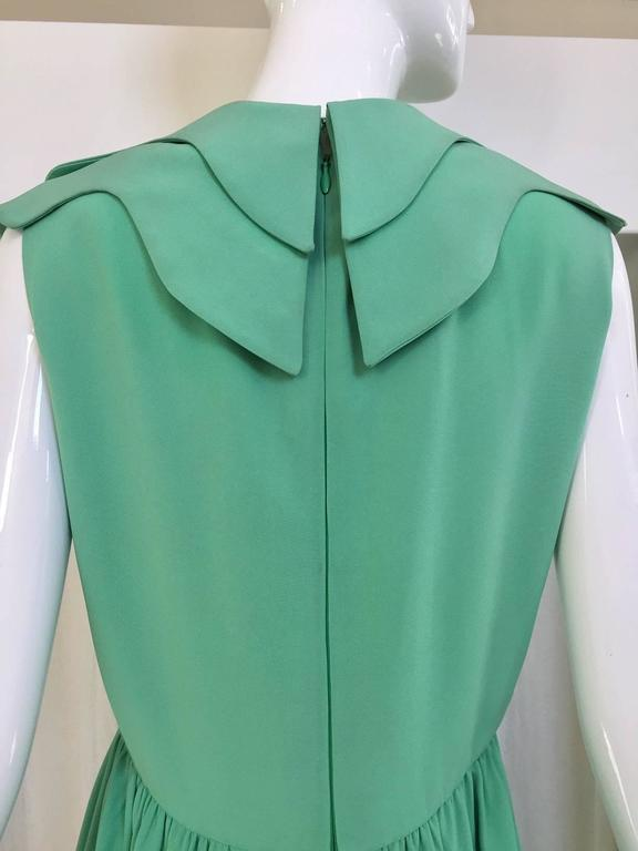1960s DONALD BROOKS Seafoam Green Silk Dress 3