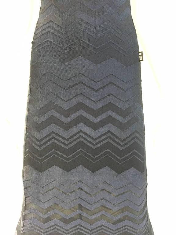 Women's 90s Ferre navy blue knit dress For Sale