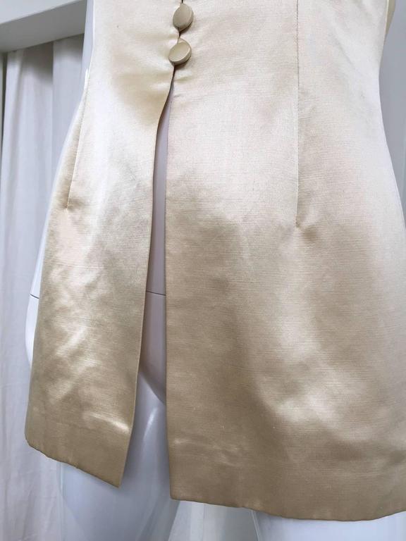 Women's 90s Sophie Sitbon Cream silk top For Sale