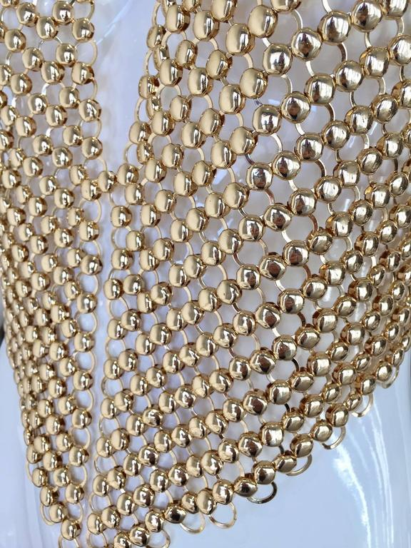 Gold chain link halter top 3