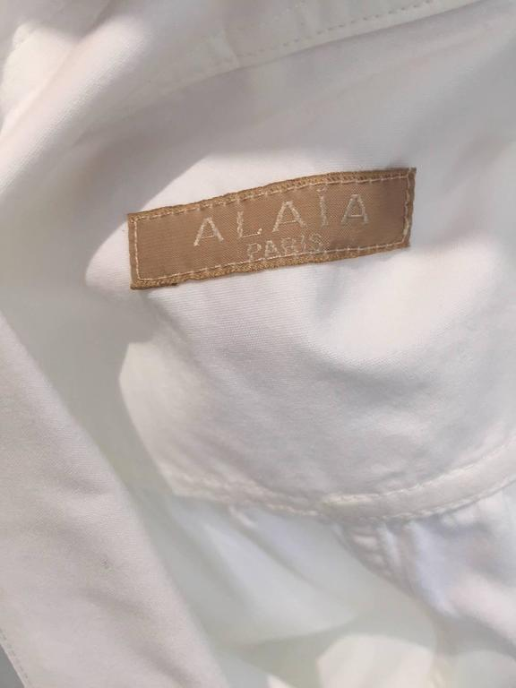 ALAIA white cotton summer dress For Sale 1