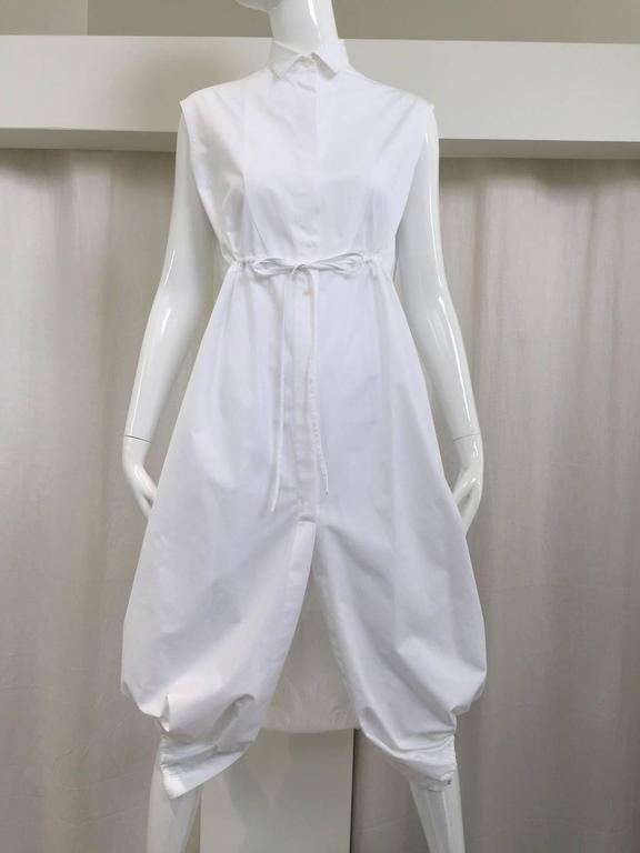 ALAIA white cotton summer dress For Sale 3