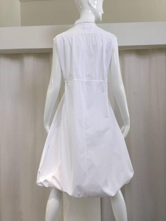 Gray ALAIA white cotton summer dress For Sale