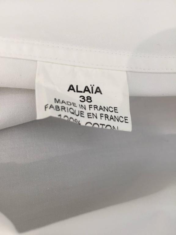 ALAIA white cotton summer dress For Sale 4