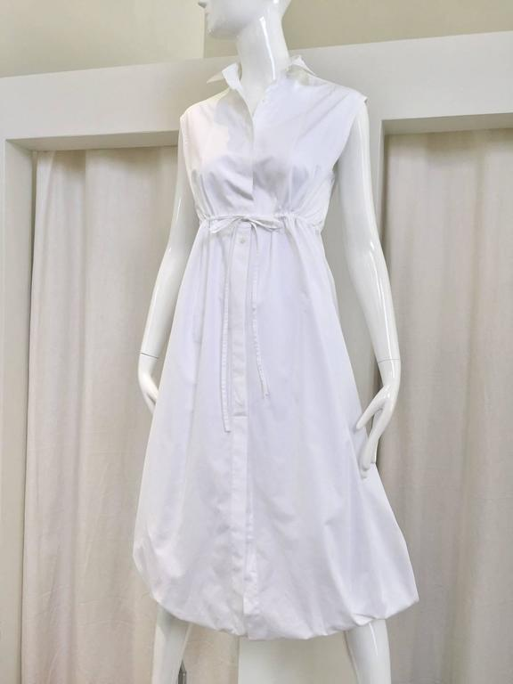 Women's ALAIA white cotton summer dress For Sale