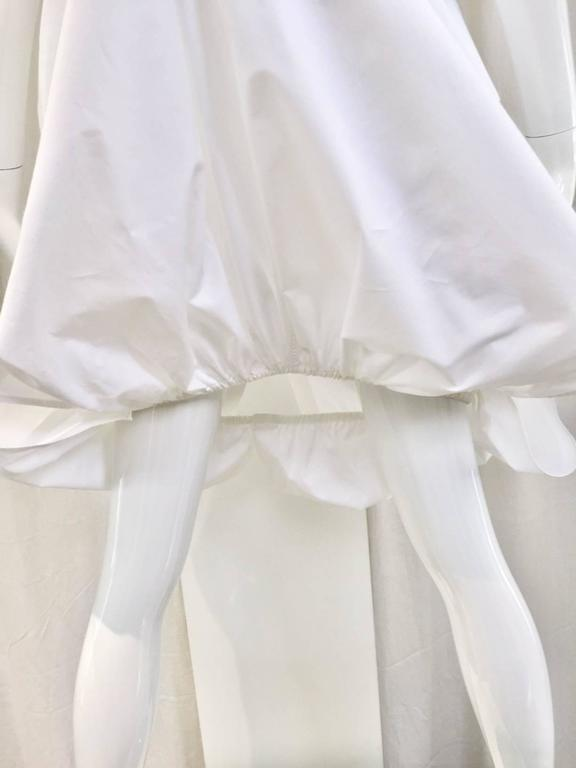 ALAIA white cotton summer dress In Good Condition For Sale In Beverly Hills, CA
