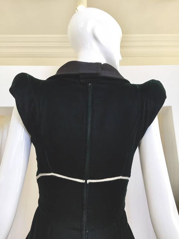 Vintage 1990s Gianfranco Ferre green velvet gown For Sale at 1stdibs