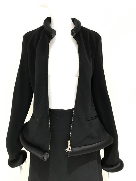 90S Jean Paul Gaultier Black Tube Jacket And Skirt Set For -5947