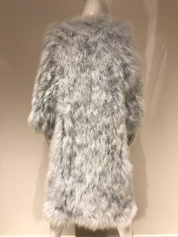 Vintage 1970s Vicky Valere light blue feather coat  3