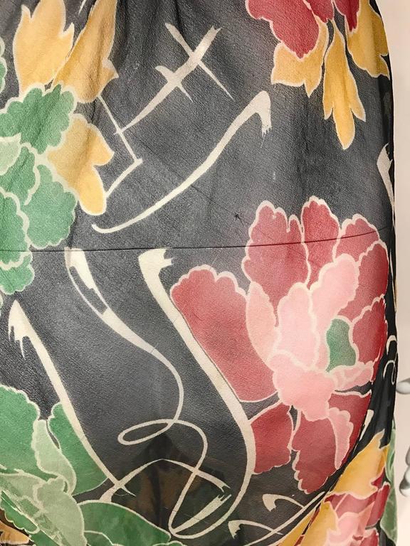 1930s Floral print silk chiffon dress  4