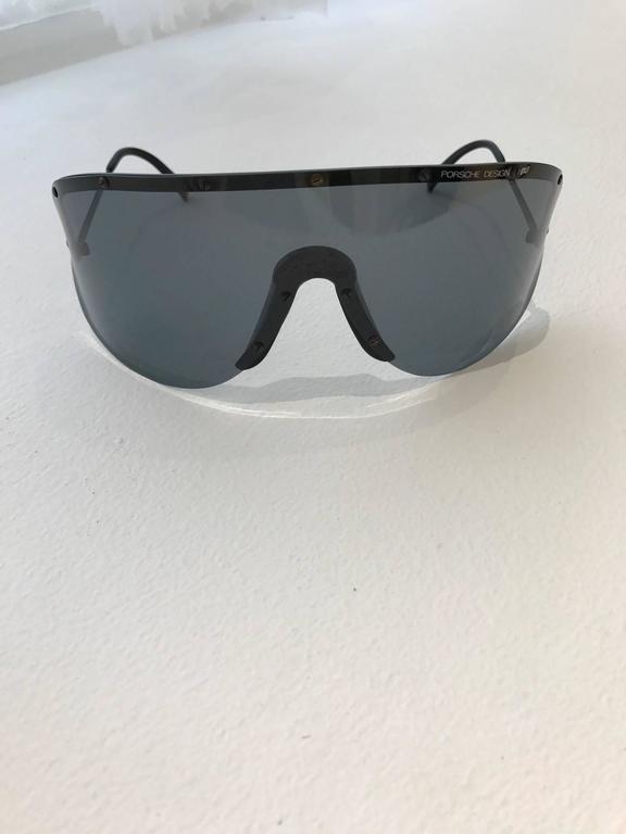 Vintage 1970s Porsche oversize sunglasses For Sale at 1stdibs
