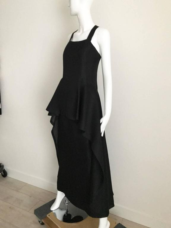 Givenchy black silk organza gown, 1970s  In Excellent Condition For Sale In Beverly Hills, CA