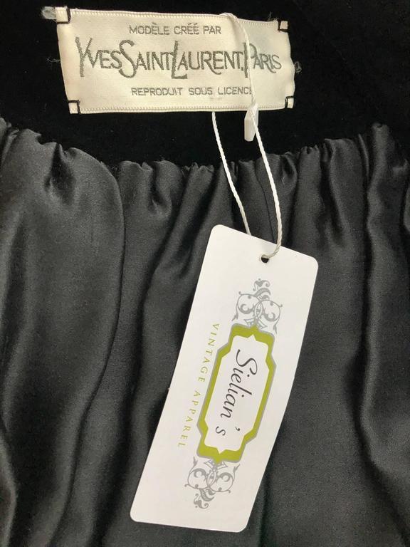 Women's Vintage Yves Saint Laurent black  silk velvet evening coat  For Sale