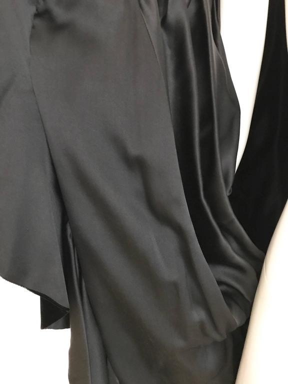 Vintage Yves Saint Laurent black  silk velvet evening coat  For Sale 2