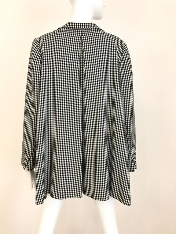 Gray 1970s Christian Dior Couture Black and White Checkered Jacket and skirt set For Sale