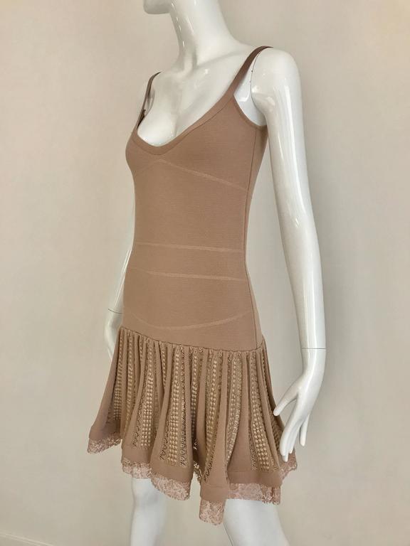 Purple No.21 Alessandro Dell'Acqua Light Mauve Pink Knit Spaghetti Strap Dress For Sale